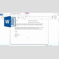 How To Insert Signature In Word Document Youtube