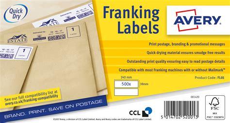 avery franking labels   sheet xmm white ref fl