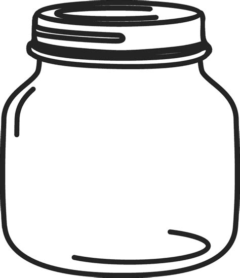 Mason Jar Clipart Black And White Free collection ...