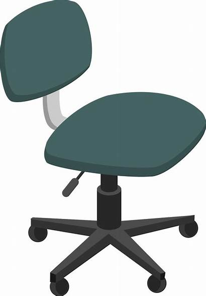 Chair Office Clipart Clip Svg Computer Wheels