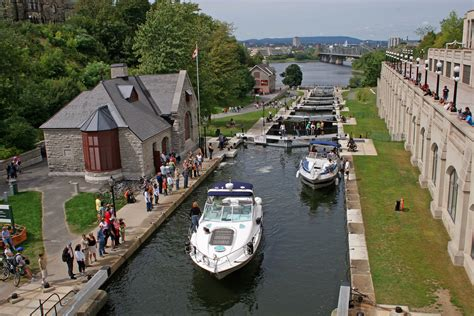 boats in the ottawa locks rideau heritage route visit