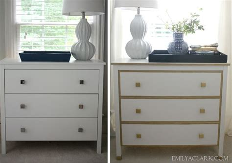 Our White & Gold (ikea) Nightstand Makeover