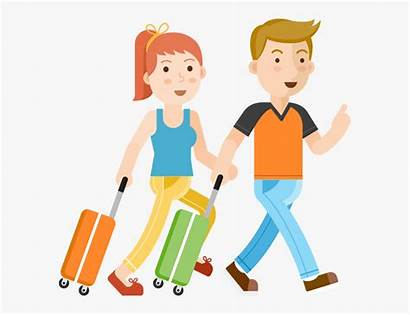 Clipart Traveling Travel Passport Couple Person Clipartkey