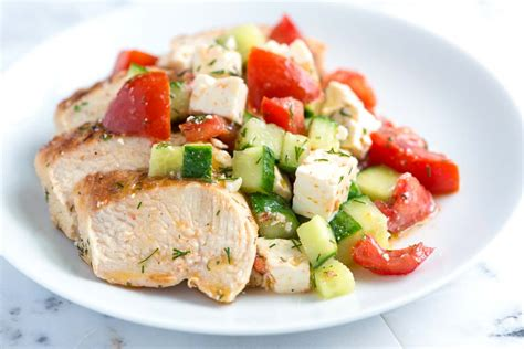 lemon chicken breast lemon chicken breast recipe with cucumber feta salad