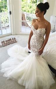 Delicate mermaid sweetheart sleeveless court train wedding for Long white wedding dresses