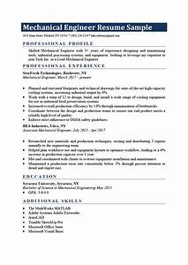 Resume With Professional Summary Mechanical Engineer Resume Sample Writing Tips Resume