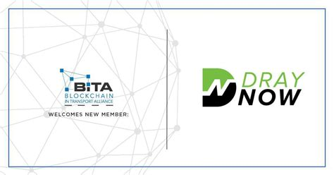 draynow is newest member of the blockchain in transport alliance officialcryptonews