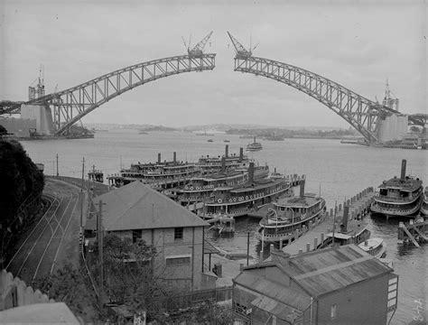 sydney harbour bridge construction royal australian