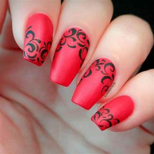 Red Acrylic Nail Designs | Graham Reid