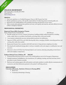 nursing resume professional experience nursing resume sle writing guide resume genius