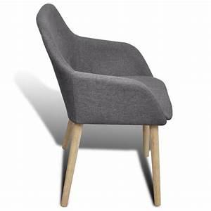 Chaise Avec Accoudoir But : la boutique en ligne set de 2 chaises gondole avec accoudoir en ch ne en tissu gris fonc ~ Teatrodelosmanantiales.com Idées de Décoration