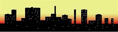 Skyline Clip Cityscape Clipart Sky Vector Scape