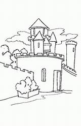 Coloring Medieval Castles Drawings Castle Drawing Gothic Template sketch template