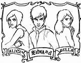 Twilight Coloring Pages Saga Anime Sketches Colouring Printable Drawings Fanpop Fan Sparkle Adult Army Sheets James Angela Jones Getcolorings Deviantart sketch template