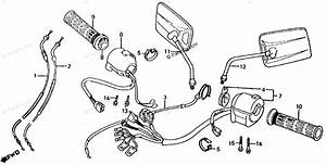 Honda Motorcycle 1985 Oem Parts Diagram For Control Lever    Switches    Cables