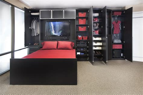 Wall Bed By Valet Custom Cabinets Closets by Zoom Room Wall Bed Custom Cabinetry Contemporary