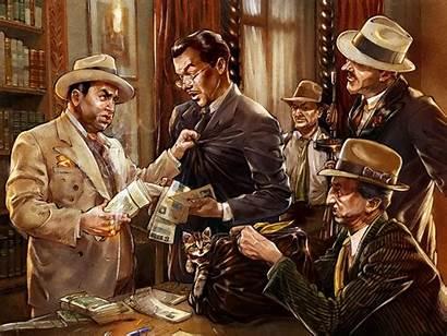 Mafia Capone Al Accountant Gangster Gangsters Concept