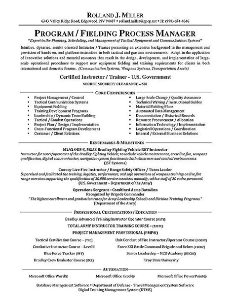 process manager resume