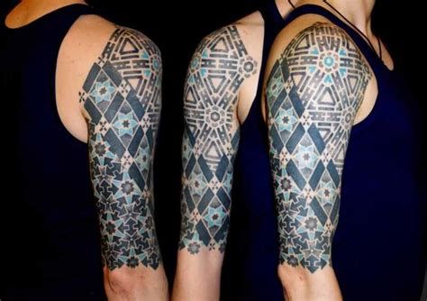 vincent hocquet clue geometric dotwork tattoo