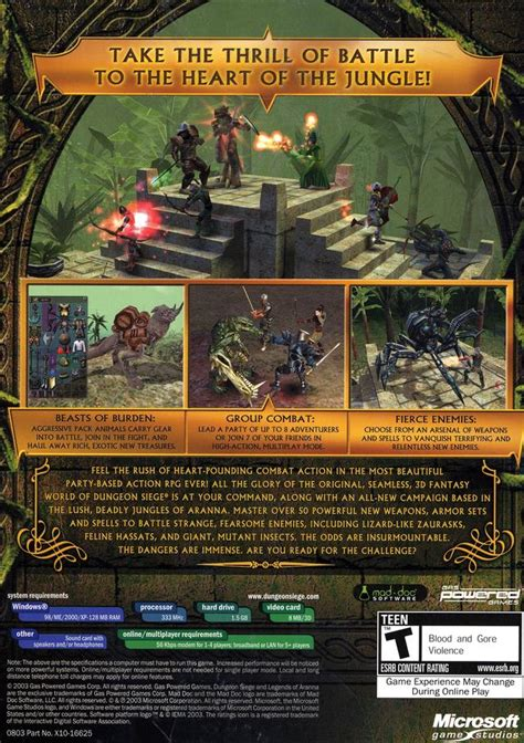 dungeon siege 3 cheats pc dungeon siege legends of aranna box for pc gamefaqs