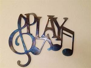 Play music notes metal wall art decor