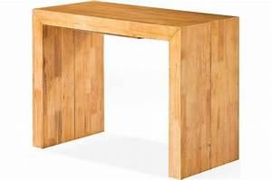 Console Chene Clair : table console extensible en bois massif wengue ~ Teatrodelosmanantiales.com Idées de Décoration