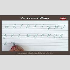 Cursive Writing  How To Write Capital Alphabets In Cursive  Alphabets Cursive Handwriting