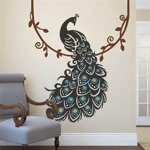 vinyl peacock wall decals whyrll com