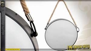 Miroir Rond à Suspendre : miroir rond suspendre de style industriel 31 cm ~ Teatrodelosmanantiales.com Idées de Décoration