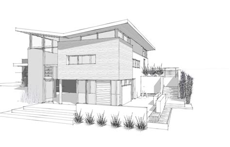 Modern House Plans Simple Architectural Plan Design Drawings Abstract Of Houses Drawing