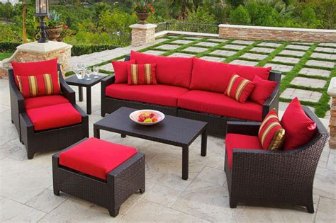 26 wonderful patio chairs with slide ottomans