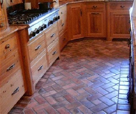 Brick Kitchen Floor Tile by Brick Pavers For Kitchen Floors Interior Spaces