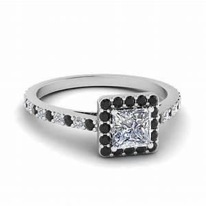 Princess Cut Halo Ring | Fascinating Diamonds
