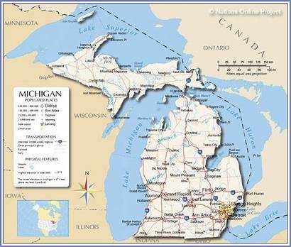 Michigan Map Travelsfinders