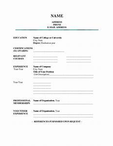 blank resume template pdf health symptoms and curecom With free sample resumes to print