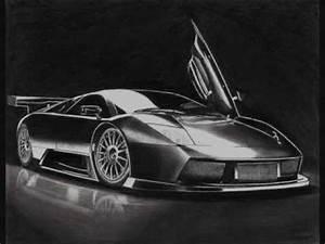 Lamborghini Murcielago R-GT pencil drawing - YouTube