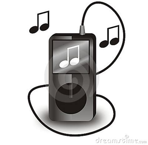 ipod clipart black and white vector black ipod stock image image 10170961
