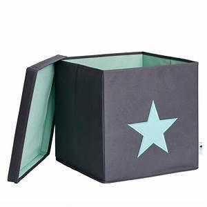 Ordnungsbox Mit Deckel : ordnungsbox mit deckel stern grau mint store it alles rund um das thema aufbewahrung ordnung ~ Udekor.club Haus und Dekorationen
