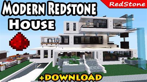 Modern Redstone House Para Minecraft Pe 142 Mcpedos