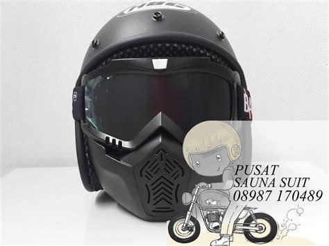 jual helm bogo retro bandit black dop bandit cros di