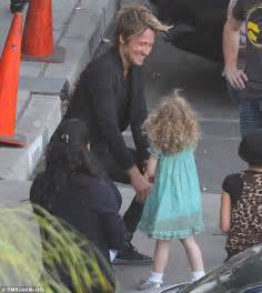 Keith Urban and His Daughters