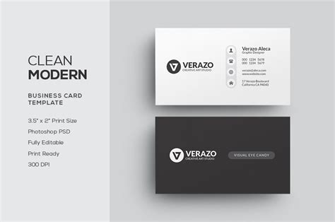 clean modern business card business card templates
