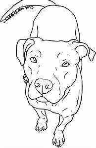 Free Pit Bull Line Art 14 by Wolfie-Undead | Puppy Love in ...