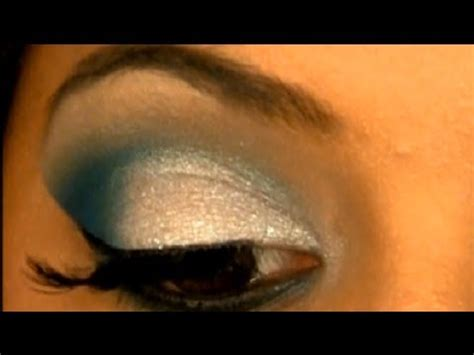 ultimate glam blue eyes face makeup  browntan