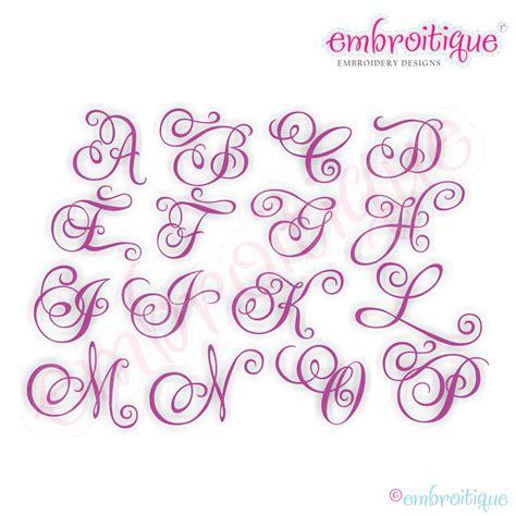 embroitique charming calligraphy script monogram set medium full set