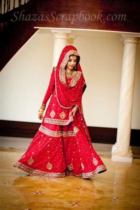 sharara dupatta draping bridal sharara designs 2017