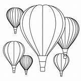 Air Balloon Coloring Balloons Printables Adult Printable sketch template