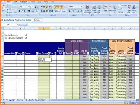 supply inventory spreadsheet excel spreadsheets group
