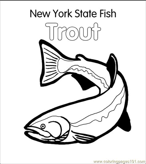 trout coloring page   fish coloring pages