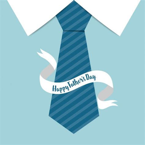Blue tie with ribbon father's day background Vector Free
